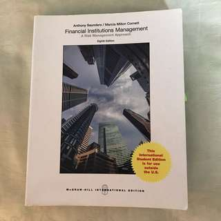 Financial Institution Management 8th edition