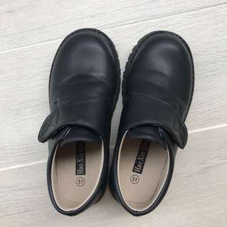 Black Synthetic Leather Shoes for Boy