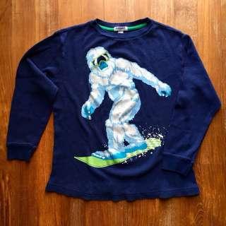 Old Navy dark blue waffle knit long-sleeved shirt
