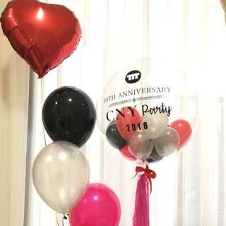 "Customized CNY 24"" bubble balloon"