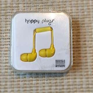 BNIB Happy Plugs - yellow