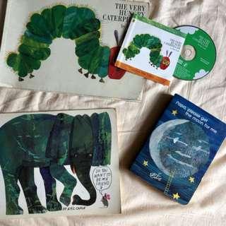 3 Eric Carle Books (Hungry Caterpillar)