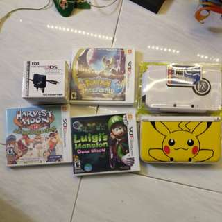 3ds  xl pikachu edition plus games combo sale!