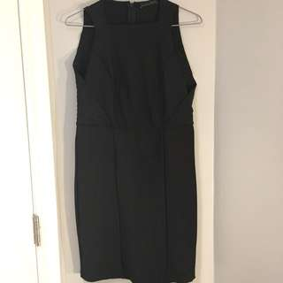 Zara Black ribbed bodycon dress (L)