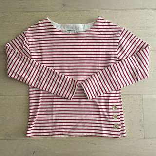 Country Road Boat Neck Stripe Top
