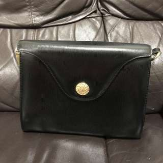 Hilly Black Leather Bag
