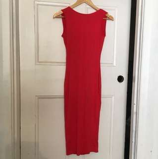 🌿🍒Red ASOS Backless scoop dress size 6 ☀️🌹