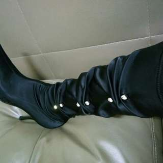 Stretch slim high boots