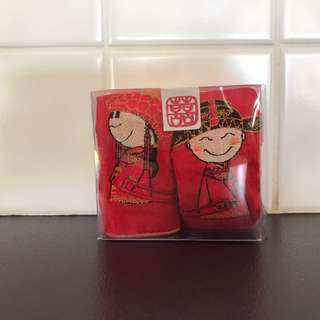 Chinese wedding characters coasters