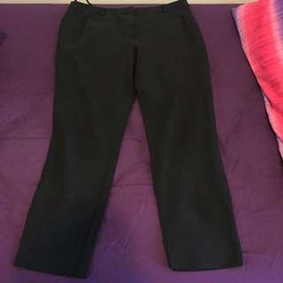 Topshop Petite Formal Black Pants - Size EU 38 / UK 10