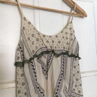 🌿☀️ Sportsgirl Maxi Strappy Summer Dress 6 🌺🌿