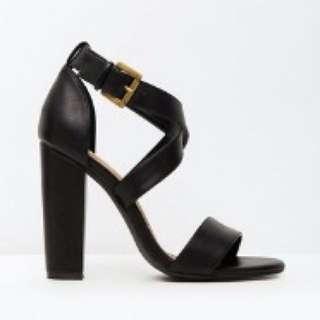 SPURR Block Heels Size 8 Black