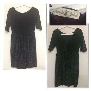 Preloved #argyleoxford (local brand) - black velvet dress