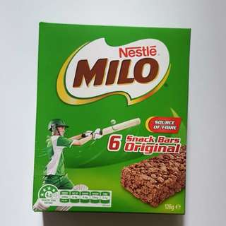 Milo Original Snack Bars 6 Pack 美祿牛奶能量條