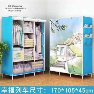 3D wardrobe size : 165cm*45cm*105cm