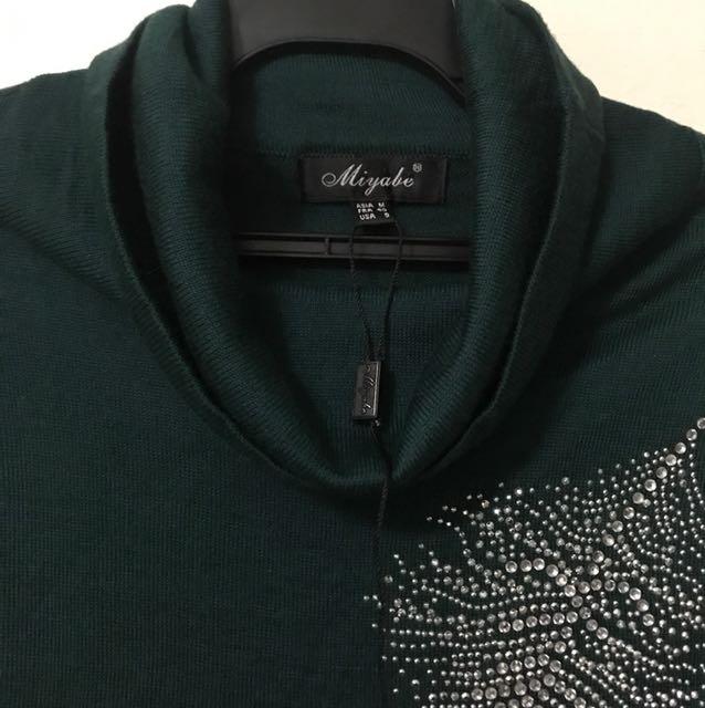 100純棉針針上衣貼鑽超美