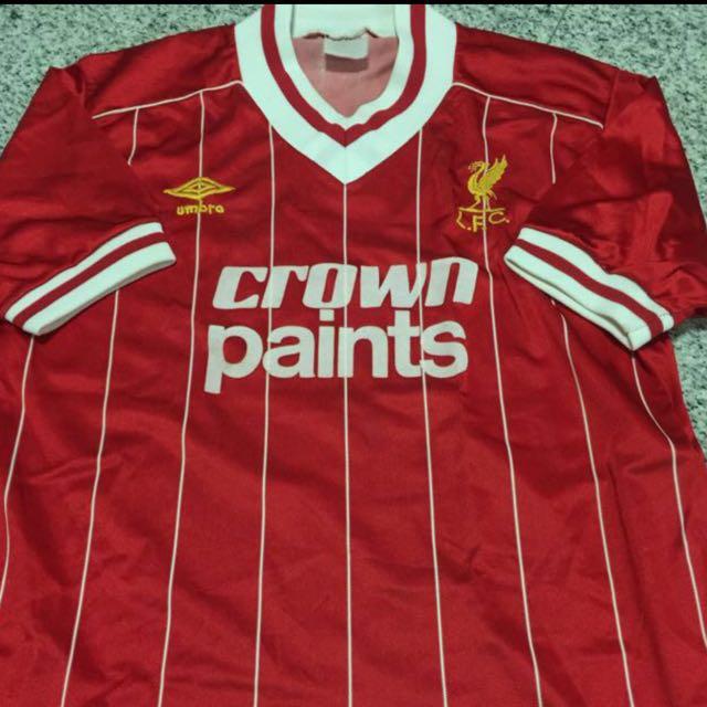 best service 56c90 84b42 100% Authentic Vintage Umbro Liverpool Crown Paints Player ...