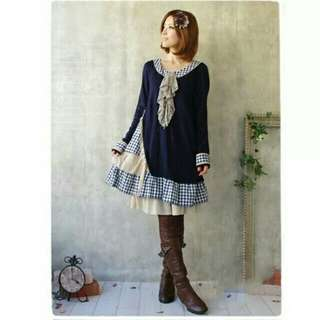 Japanese style cute dress, suitable for daily wear