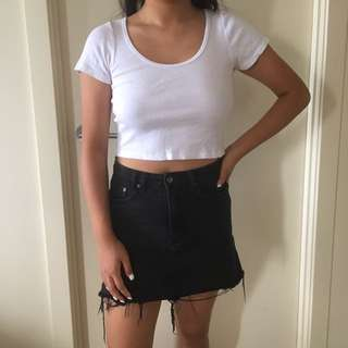 GENERAL PANTS Basic White Crop