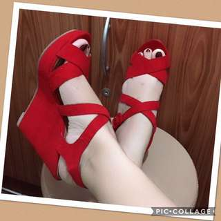 Authentic american rag hot red shoes