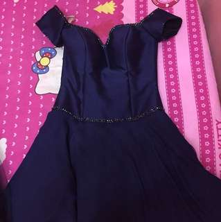 Cocktail Gown (Midnight Blue)