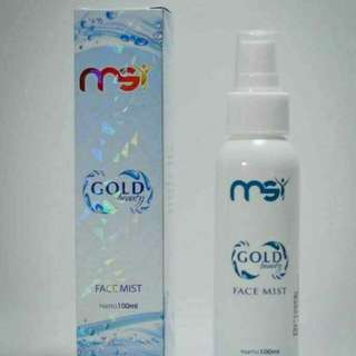 MSI GOLD BEAUTY FACE MIST 5x100mL (free member ID)