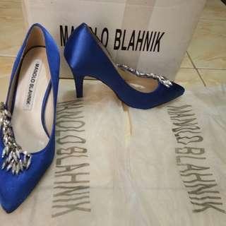 Heels Manolo Blahnik sz 35 blue