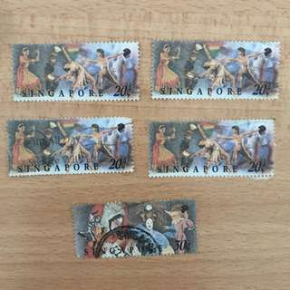 Singapore Stamp - Multicultural Art