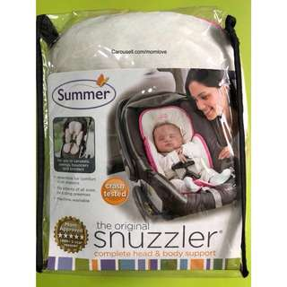 🌈(READY STOCK)🔆Brand New Summer Infant Snuzzler Infant Support for Car Seats and Strollers, Velboa Pink/Ivory
