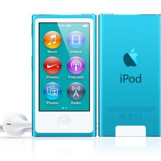 Looking for: iPod nano 7th generation blue.