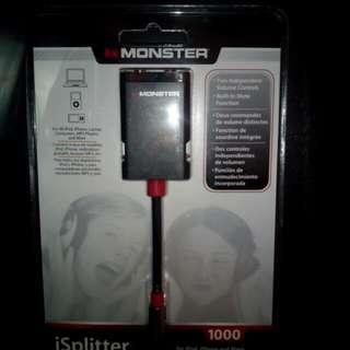 Monster Y Splitter for sharing headphones