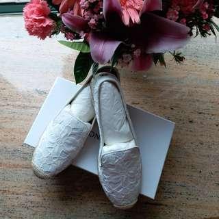 Moncler草編鞋 size40