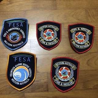 Western Australia Fire & Emergency Services Badges