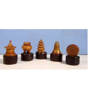 Vintage hand crafted in Shanghai pencil sharpeners set of 5 circa 1930s new from