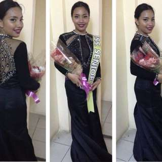 BLACK PROM/EVENING/LONG GOWN FOR RENT