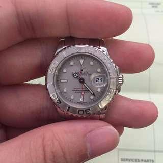 Rolex Yachtmaster 169622 SEL Bracelet Platinum Bezel with Rolex Authentication Receipt