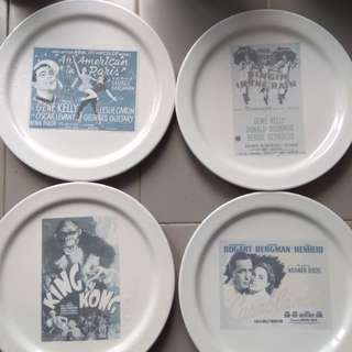 Pottery Barn Classic Movie Ceramic Plates