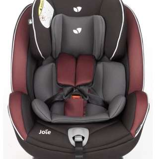 JOIE STAGES CAR SEAT BURGUNDY CHARCOAL 0-7years old