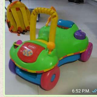 Covertible Push Walker And Car
