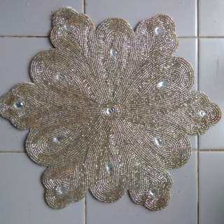 Set of 6 Antique Sequin Table Mats