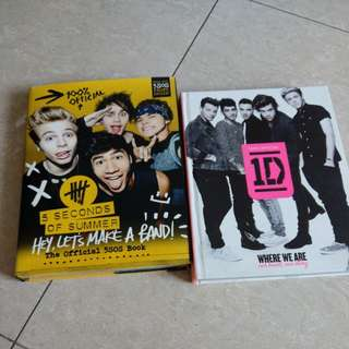 Official One Direction / 5 Seconds of Summer books