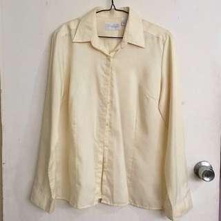 Van Heusen yellow long-sleeved blouse