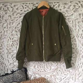 Fashionnova Khaki Bomber Jacket