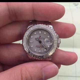 [$5,300] Rolex Yachtmaster 169622 SEL Bracelet Platinum Bezel with Rolex Authentication Receipt