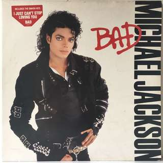 Michael Jackson ‎– Bad (1987 Europe Original in Gatefold Sleeve - Vinyl is Excellent)