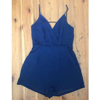 Navy size 8 play suit