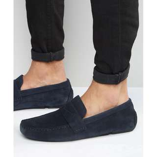 Red Tape 英國知名品牌 asos 購入 豆豆鞋 海軍藍 深藍 絨布 Navy 麂皮 豆豆鞋 樂福鞋 英倫雅痞 UK9