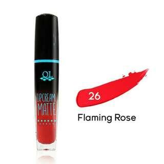 QL cosmetik lipscream matte 26 flaming rose 5gr