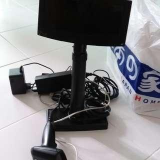 POS customer display and barcode scanner
