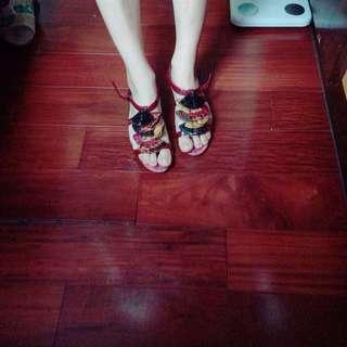 🚚 義大利 MACANNA 設計鞋款 超美酒紅色涼鞋